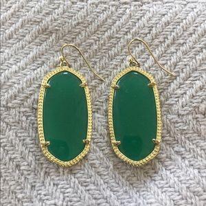 Kendra Scott mini Danielle Earrings Dark Green